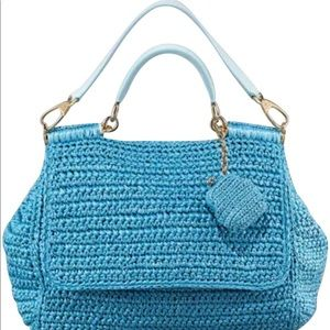 🎉 AUTH Lrg DG Cruise flap crochet Sicily coin bag